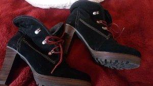 Tamaris Wciągane buty za kostkę czarny