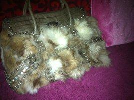 NEU! Tasche mit Pelz- und bunten Glassteinchen ,NP=179€