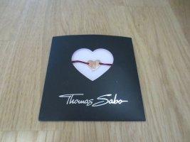 NEU, Thomas Sabo Armband, Herz rosé Gold, Stoffband