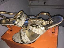 """NEU! Tolle Sandaletten aus Leder(Riemchen aus Stoff)  von """"VALLEVERDE"""", NP=199€"""