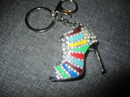 neu,toller (schlüssel) anhänger,high heels,silberfarben,bunt