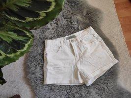 Neu Topshop Shorts high waist weiß 36 38 Moto rosa jeans