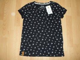 NEU - Tshirt von Gina in Gr. S 36/38 schwarz mit Vögel Schwalben