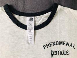 New Balance Sports Shirt natural white-black