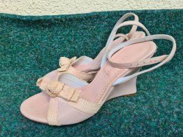 NEU Vero Cuoio elegante Keilabsatz Sandalen Riemchen offene Schuhe High Heel Sandaletten