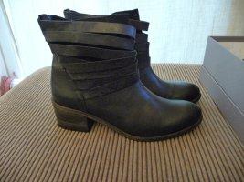 NEU Vic Stiefelette  Leder Boots schwarz Gr. 39