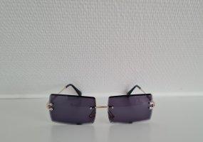 Vintage Kwadratowe okulary przeciwsłoneczne czarny-złoto