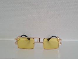 Vintage Okulary retro złoto-żółty