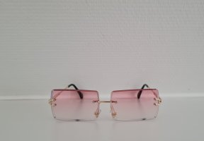 SYLT Kwadratowe okulary przeciwsłoneczne w kolorze różowego złota-różany