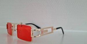 Okulary retro złoto-czerwony
