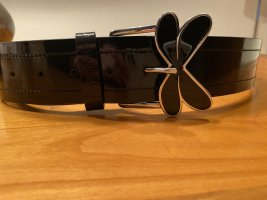 Armani Jeans Cinturón de cuero negro Cuero