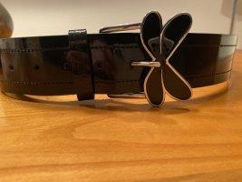 Armani Jeans Ceinture en cuir noir cuir