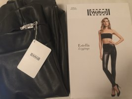 Wolford Leather Trousers dark grey-grey polyester