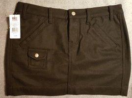 NEU WOLLE RALPH LAUREN MINIROCK POLO Jeans UK Winter Black Schwarz TOP
