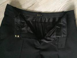 Massimo Dutti Woolen Trousers black wool