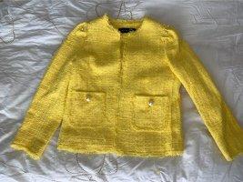 Zara Woman Tweed Blazer neon yellow-yellow