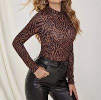 1 brand Turtleneck Sweater black-cognac-coloured