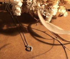 Neue 925 Silberhalskette Herz liebe Kette Vintage love herz Silber