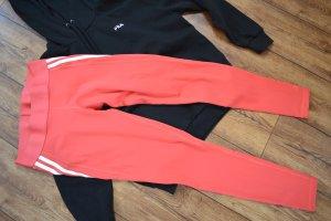 Adidas Spodnie sportowe biały-ceglasty