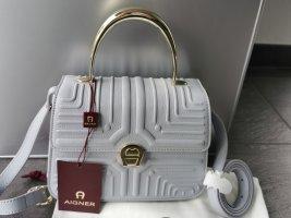 Aigner Handbag light grey leather