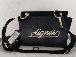 Neue Aigner Leder Tasche  schwarz