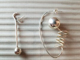 Etsy Silver Earrings silver-colored metal