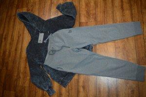 Pantalone da ginnastica grigio scuro-grigio