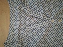 Neue blau-weiß gemusterte Bluse von Tchibo