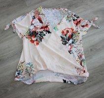 SheIn Kopertowa bluzka biały-nude