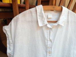 Boss Orange Blusa sin mangas blanco Lino