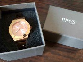 Brax Reloj con pulsera metálica color rosa dorado
