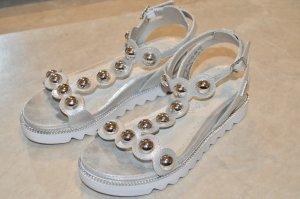 Bugatti Strapped Sandals silver-colored-white