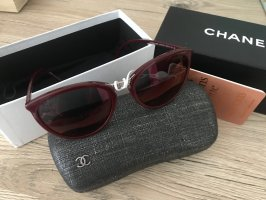 Chanel Butterfly Glasses bordeaux-brown red