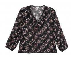 Claudie Pierlot Long Sleeve Blouse black polyamide