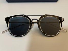 Dior Aviator Glasses black-silver-colored metal