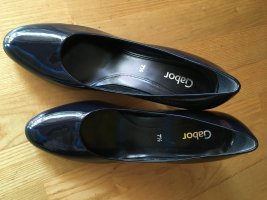 Gabor High-Front Pumps dark blue leather