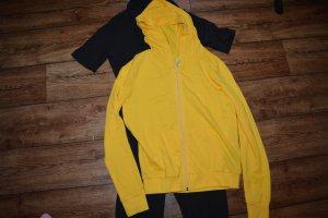 H&M Divided Kurtka z kapturem ciemny żółty-żółty
