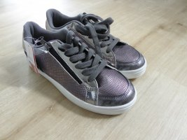 Claudia Ghazzani Lace Shoes silver-colored-light grey