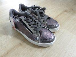 Claudia Ghazzani Scarpa stringata argento-grigio chiaro
