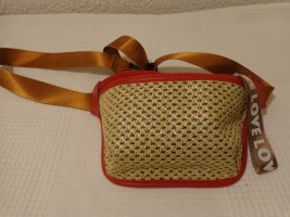 Bumbag brick red-natural white