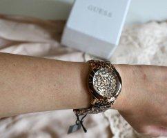 Neue GUESS Armbanduhr Rosegold Leo Print