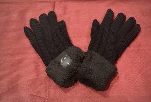 0039 Italy Gevoerde handschoenen zwart Wol