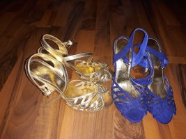 H&M High Heel Sandal gold-colored imitation leather