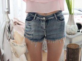 Lookbookstore Hot pants blu scuro-argento
