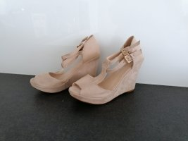 aus Italien Sandalen met bandjes en hoge hakken room