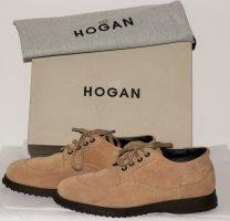 Hogan Lace Shoes beige leather