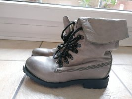 Blink Lace-up Booties black-grey