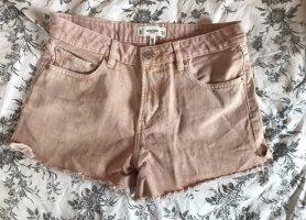 Neue Mango Denim Shorts Jeansshorts Hotpants in Rosé Lachs 38