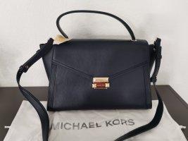 Neue Michael Michael Kors Leder Tasche Whitney schwarz blau