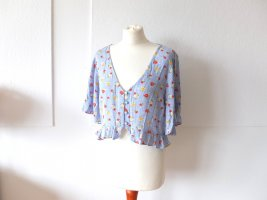 neue Miss Selfridge cropped Bluse Shirt Gr. 42 hellblau Blümchen